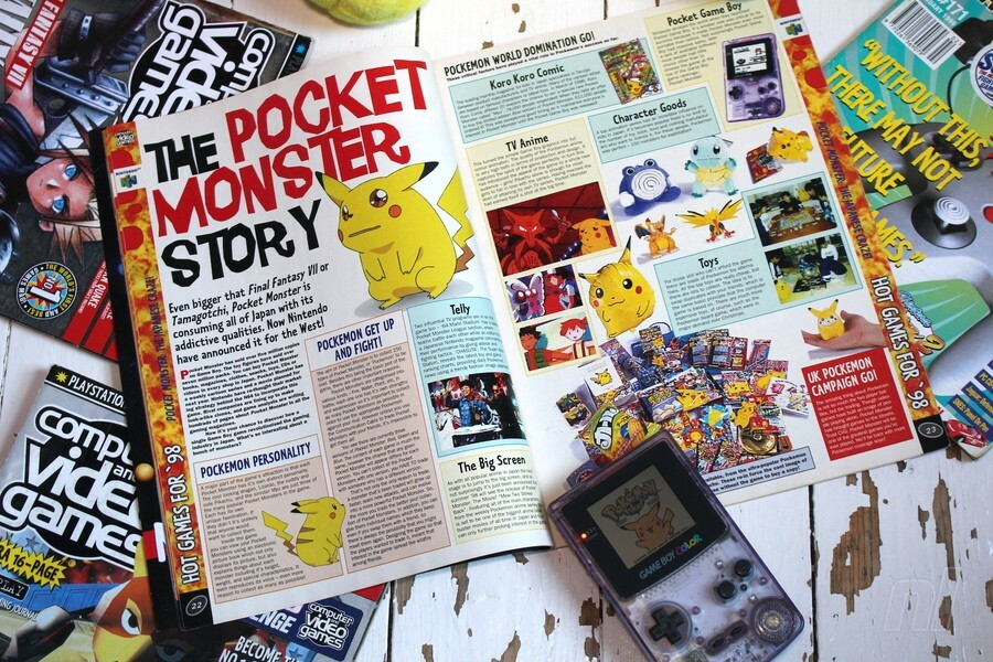 By February 1998, the series had become so big that it was given a special 6-page feature covering all of the new game announcements, including Hey You, Pikachu and Pokémon Snap