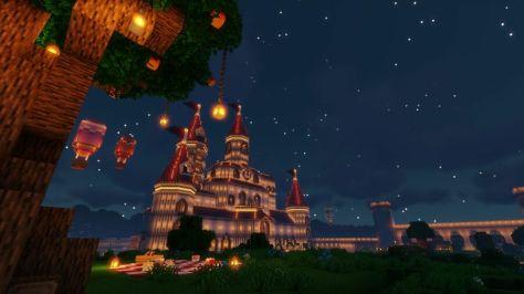 Peachs Castle Night