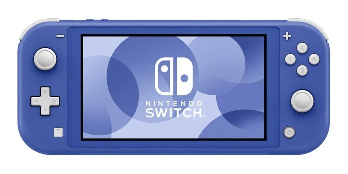 The Switch Lite in blue... or purple