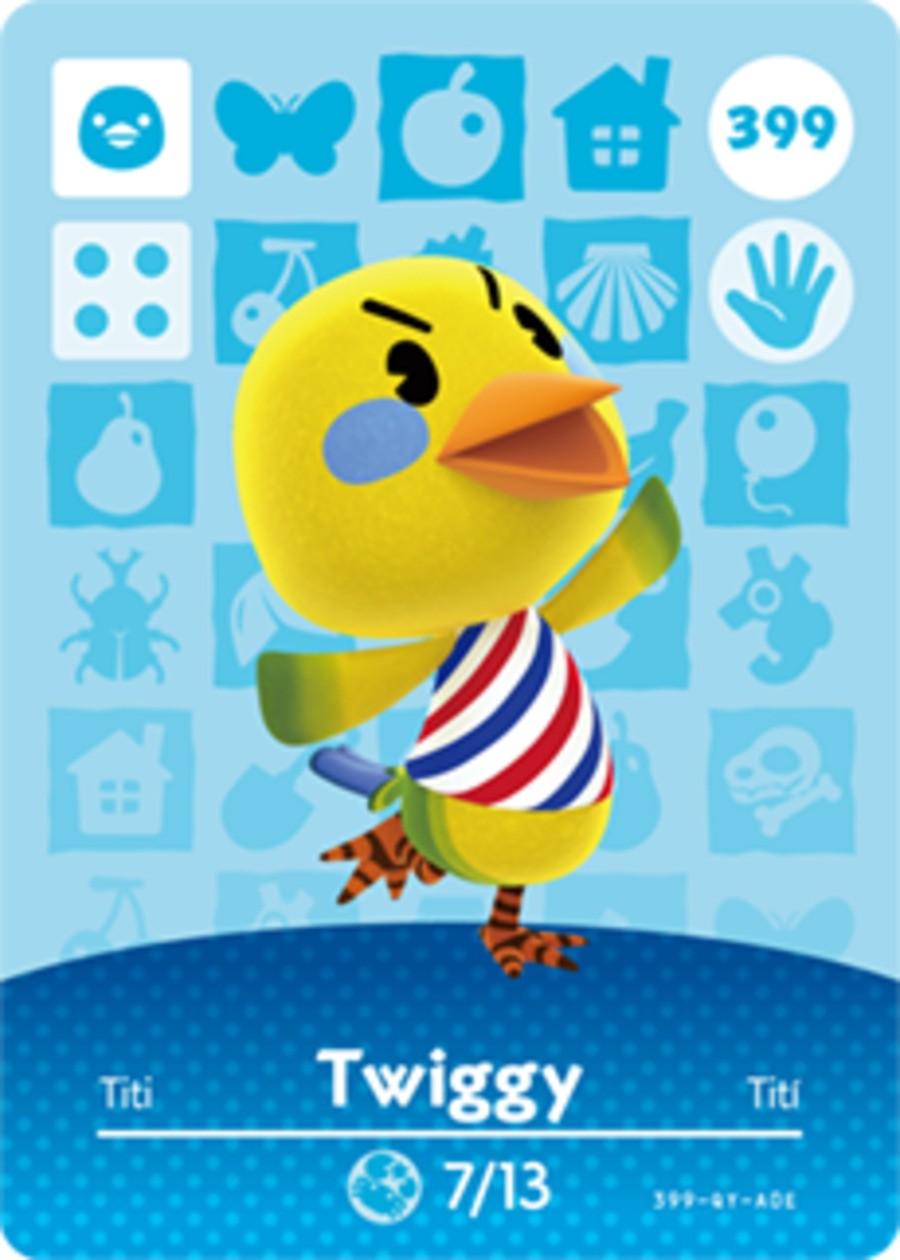 Twiggy Animal Crossing Amiibo Card