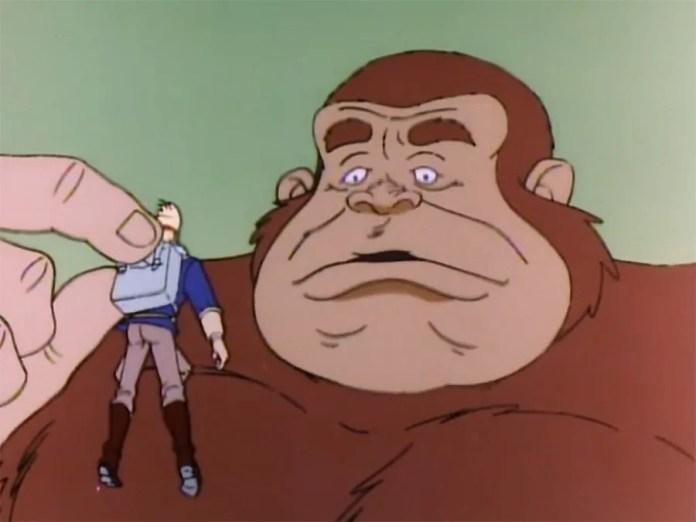 Simon thinks he's Donkey Kong Jr