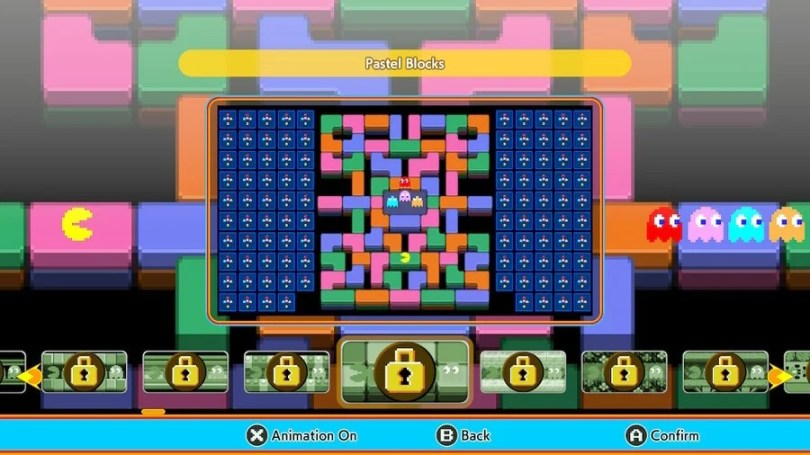 Pac-Man 99: Pastel Blocks Theme