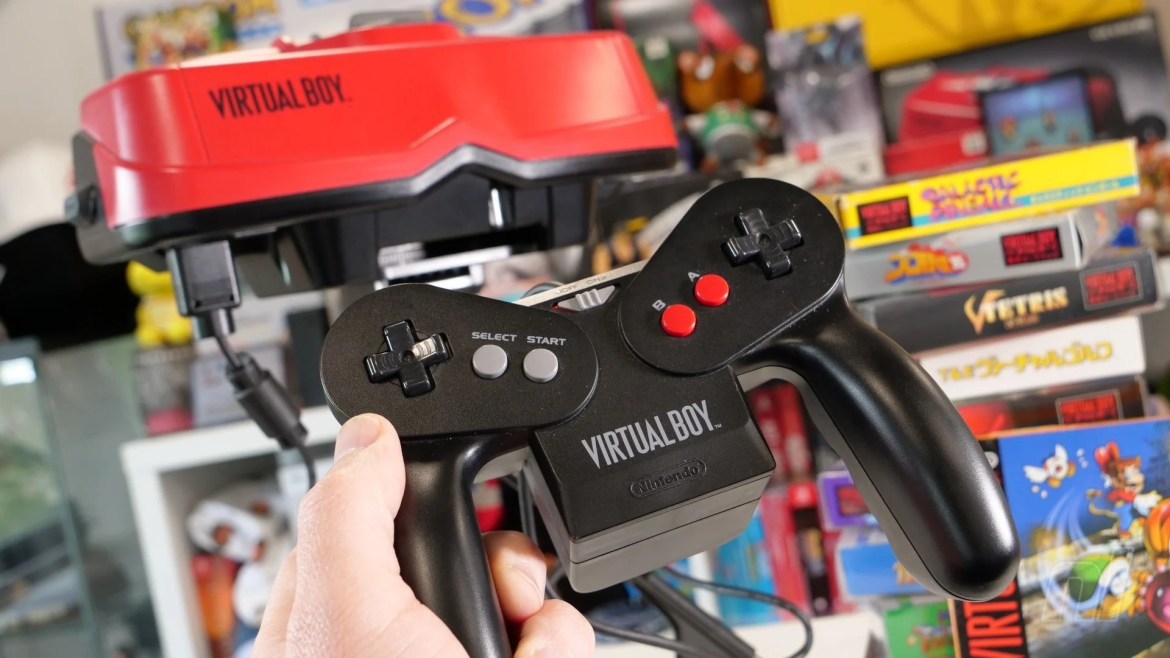 Virtual Boy Pad Console And Games