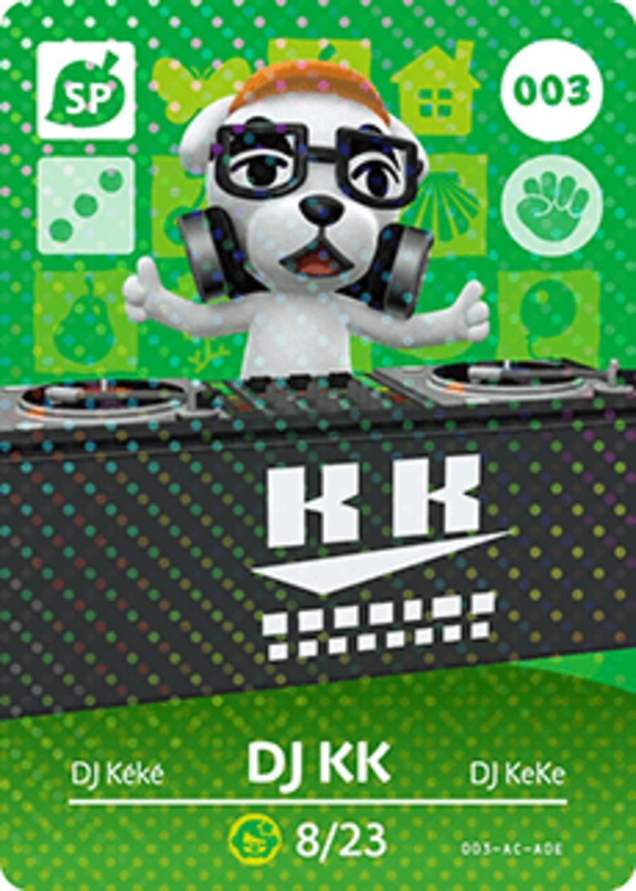 KK Slider Animal Crossing Amiibo Card
