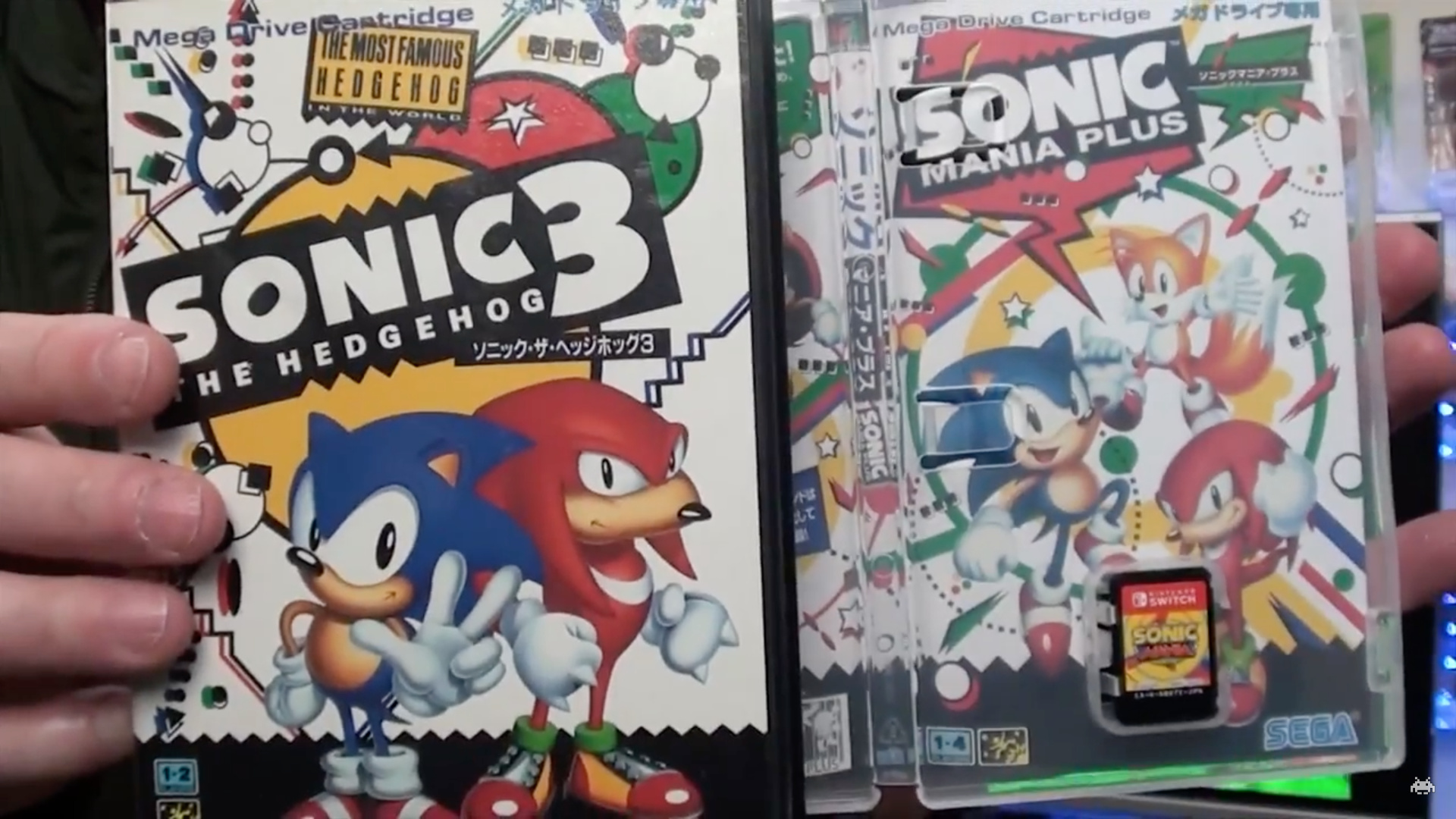 The Japanese Version Of Sonic Mania Plus Comes With A Gorgeous Mega     Sonic Mania Plus Reversible Cover