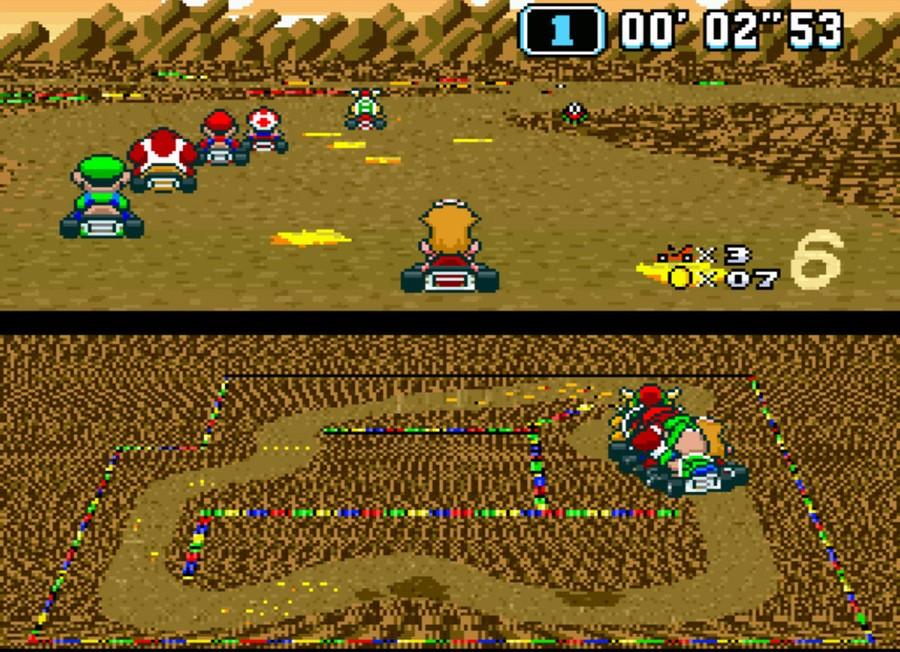 Super Mario Kart SNES Super Nintendo Screenshots