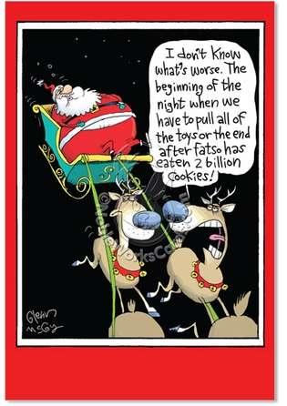 Unique Humor A Billion Cookies Christmas Card Glenn Mccoy