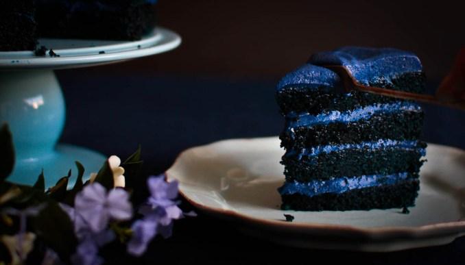 Blue Velvet Cake @ Not Quite Nigella
