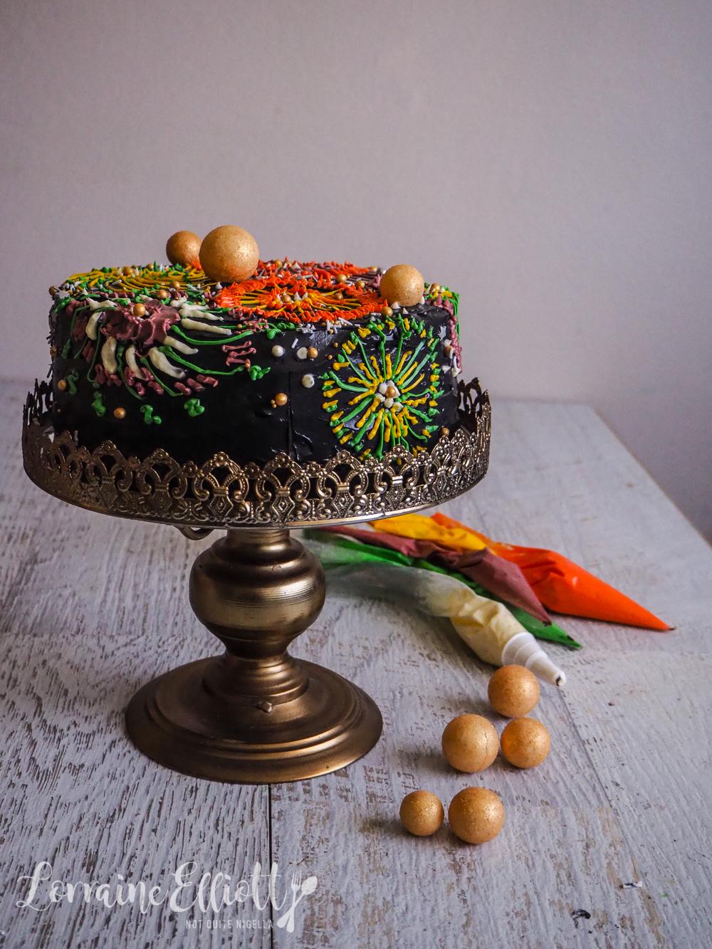 Fireworks Vasilopita New Year S Day Cake Not Quite Nigella