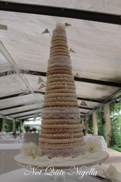 Kransekake   A Danish Wedding Cake   Not Quite Nigella So what does this have to do with the Danish wedding cake  Well the  Kransekake cake comes in two forms  The traditional wedding cake is a  conical shape