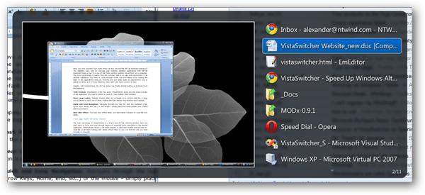 Vista Switcher Screenshot