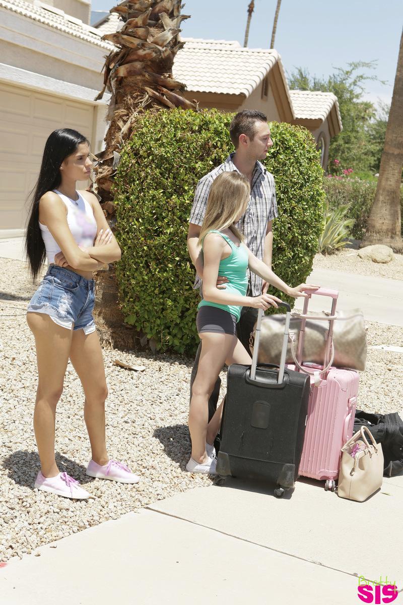 BrattySis.com - Angel Smalls,Katya Rodriguez: Road Trip Ep 1 - S2:E12