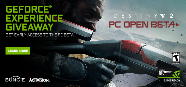 Destiny 2 PC GeForce Experience Open Beta Key Giveaway