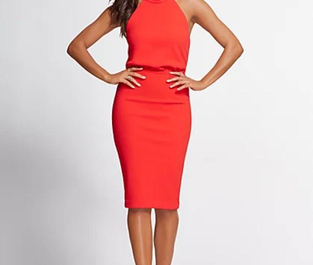 Halter Sheath Dress Gabrielle Union Collection New York Company