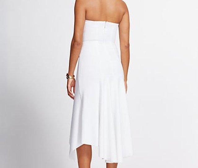 White Strapless Hi Lo Maxi Dress Gabrielle Union Collection New York Company