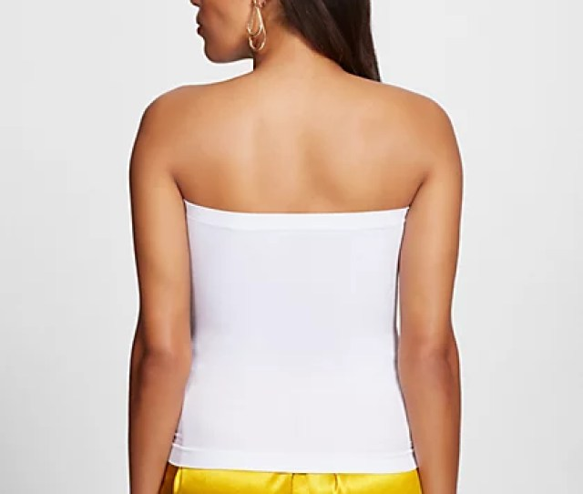 White Tube Top Gabrielle Union Collection New York Company