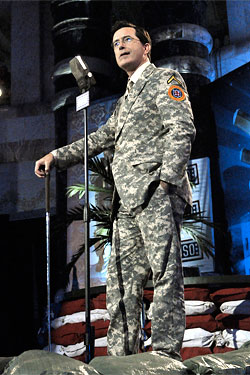 Everything You Need to Know About Stephen Colbert's Camo Suit