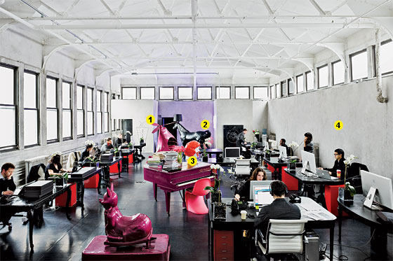 A Purple Piano Latex Sofa And Ronald Mcdonald Head Make For Classic Kitschy Mash Up At This Former Art Studio Speakeasy Morgue Turned Ad