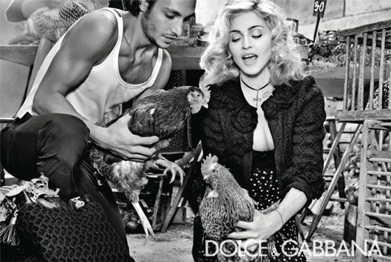 Madonna's Full Dolce & Gabbana Campaign Includes Roosters and a Baby