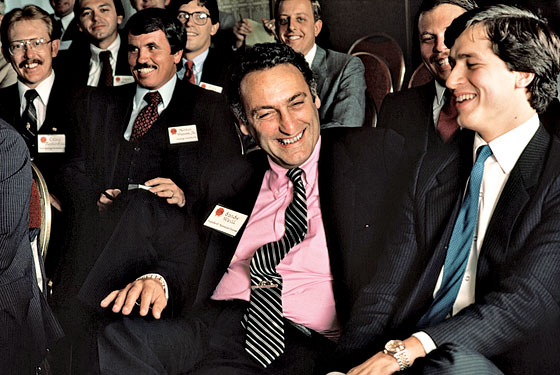 Sandy Weill, left, and Jamie Dimon, then with American Express, at a conference in California in 1983.   (Photo: Roger Ressmeyer/Corbis)