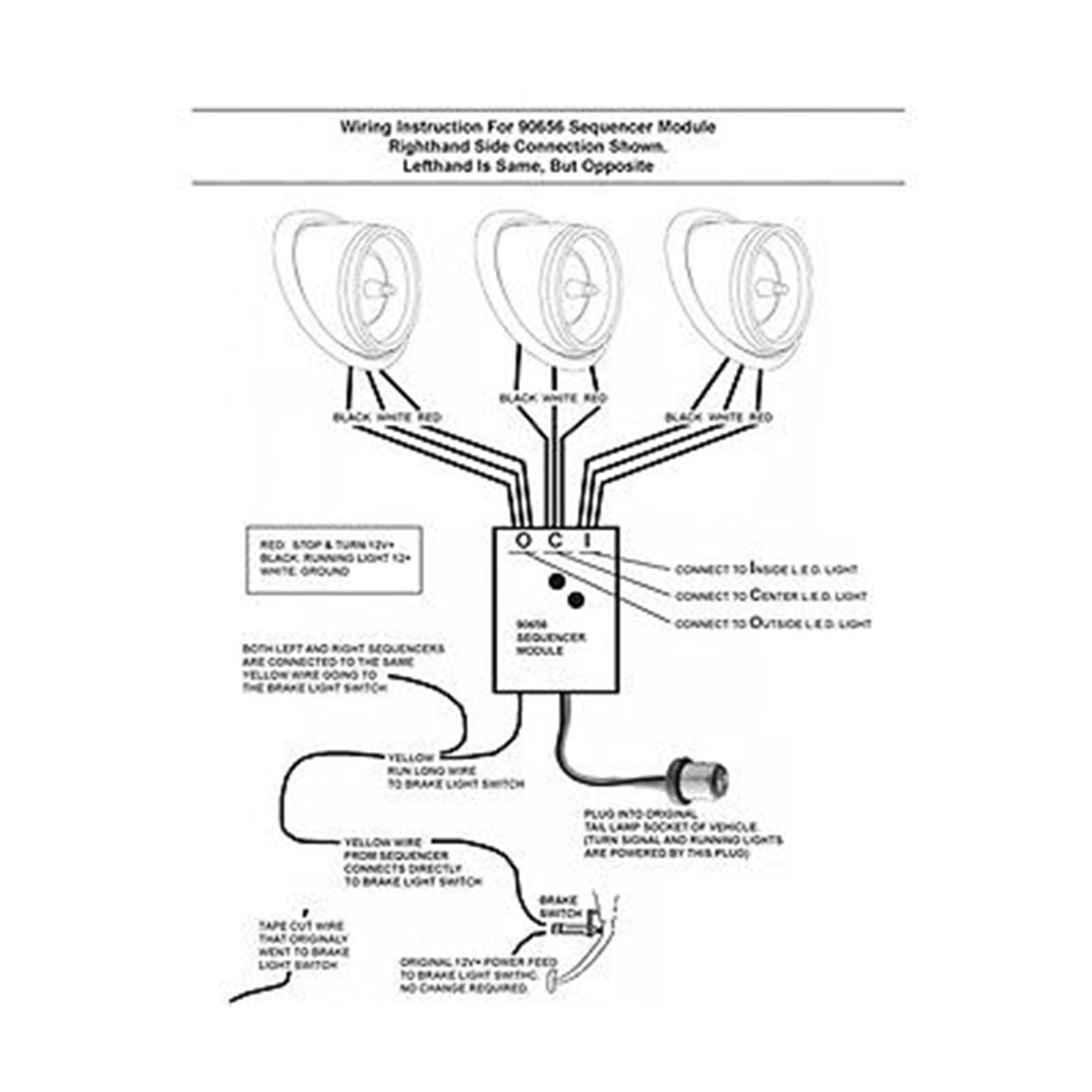 Universal Sequential Led Tail Brake Turn Signal Blinker