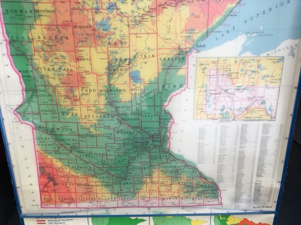 Map of Minnesota for Sale in Minneapolis  MN   OfferUp