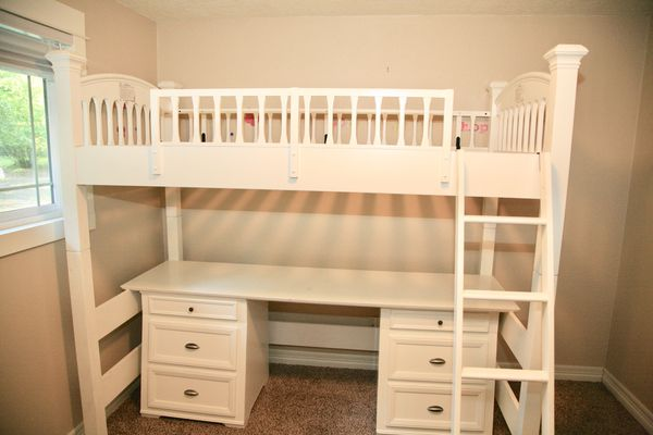 Kids Bunk Bed Desk Combo Bombay Co For Sale In San