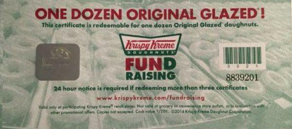 Krispy Kreme Donut Certificate 4 A Free Box For Sale In Sunnyvale Ca Offerup