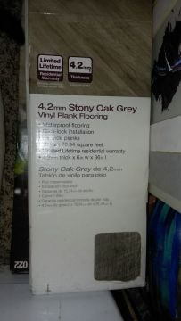 Home Decorators Collection 4 2mm Stony Oak Grey 6 in  x 36 in     Home Decorators Collection 4 2mm Stony Oak Grey 6 in  x 36 in  Luxury Vinyl  Plank  Have two unopened cases totaling 40 6 sf for Sale in San Diego