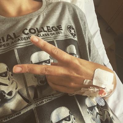 Now I'm back on chemo [OK]