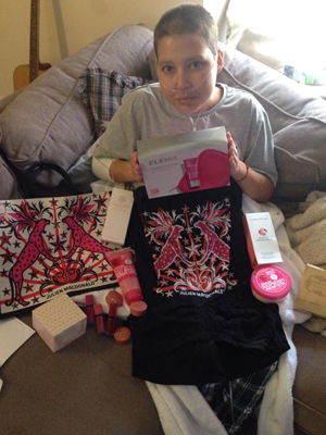 Breast Cancer Care brightened my day with this gift set [OK]
