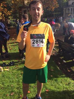 My friend ran the marathon to raise money for BCC [OK]