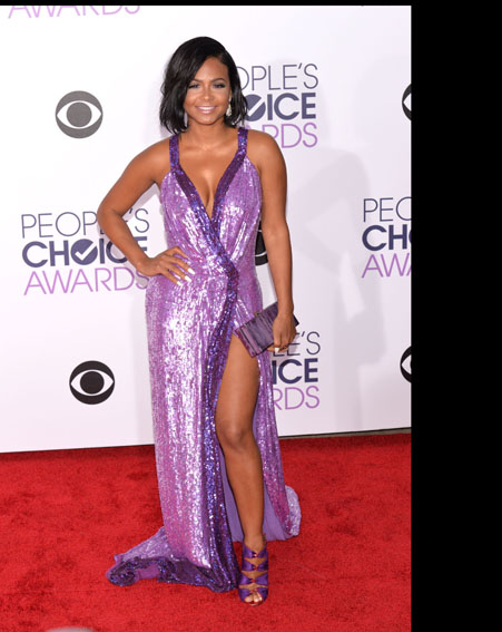 Christina Millian's purple sequined dress didn't go down well with the critics [Getty]