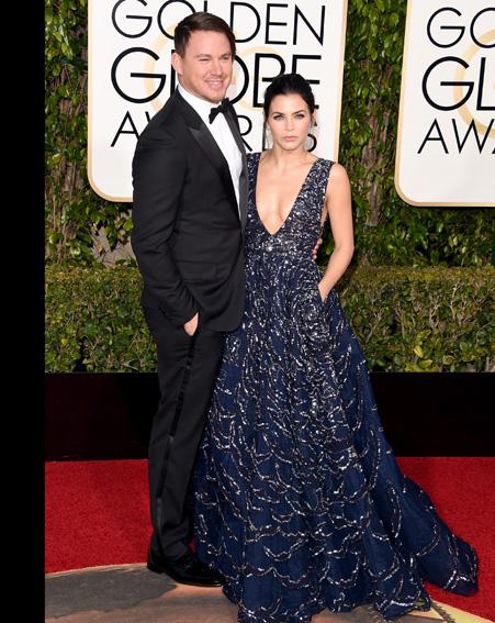 Channing Tatum and Jenna Dewan Tatum arrive together [Getty]