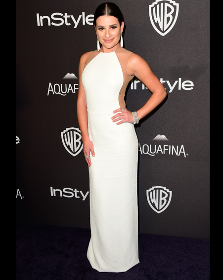 Lea Michele attends InStyle and Warner Bros after-party [Getty]