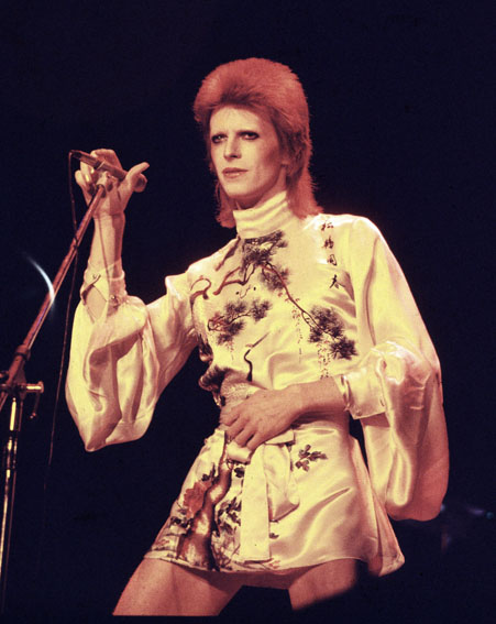 David Bowie performs during the Ziggy Stardust tour in 1973 [Getty]