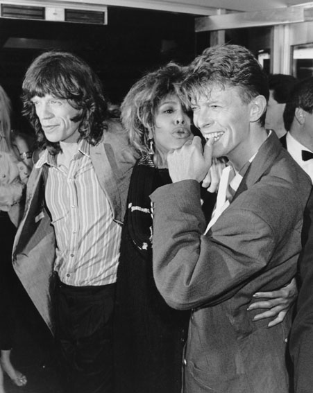 Mick Jagger, Tina Turner and David Bowie [Getty]