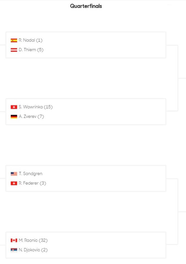 Así quedaron los cuarto de final del Australian Open.