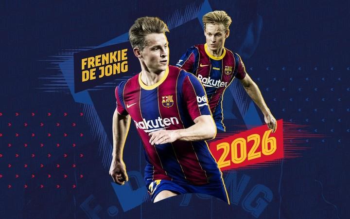 The Barsa renewed De Jong.  (@FCBarcelona_es)
