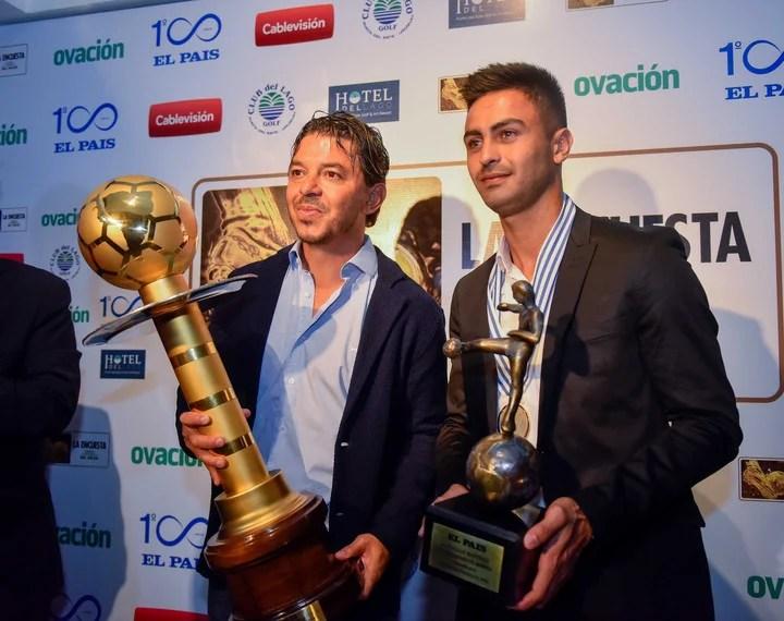 Gallardo y Pity premiados en la entrega de 2018. Foto: Mario Quinteros.
