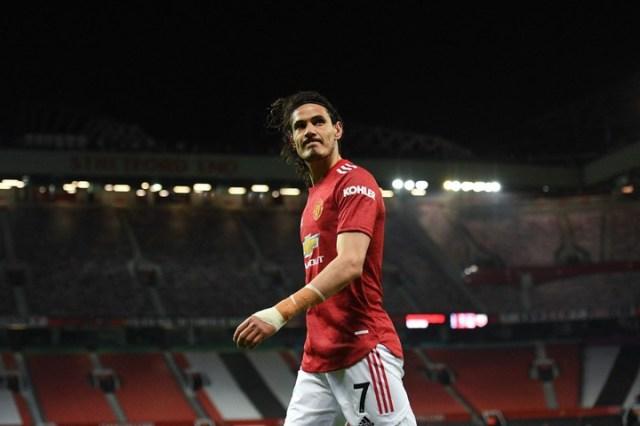 Cavani usa la 7 hoy en el United. También la tuvo en Palermo y Napoli (AFP)