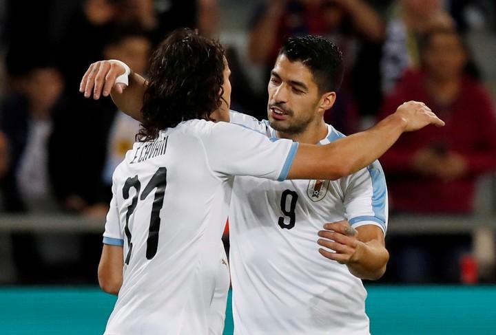 Cavani y Suárez, el poder de gol charrúa.