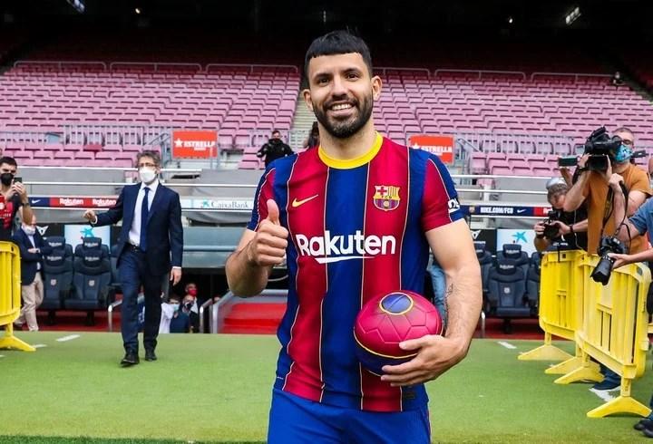Agüero llegó para reforzar el ataque del Barcelona.