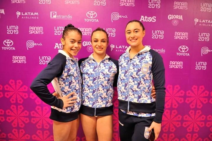 Dominici (en el medio), en Lima 2019.