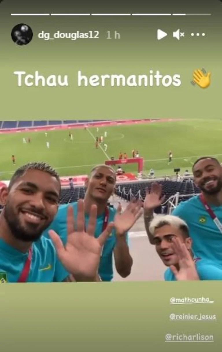 La gastada de los jugadores brasileños a Argentina.