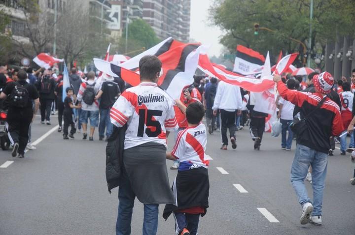Los hinchas vuelven al Monumental. Foto: prensa River.