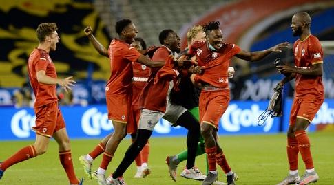 Antwerp players celebrate (Reuters)
