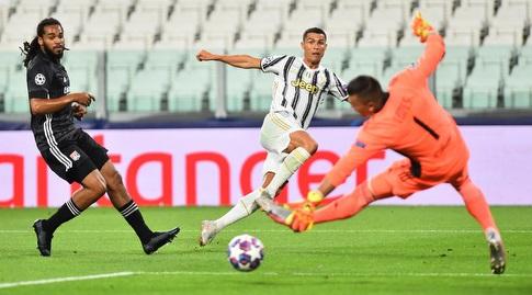 Cristiano Ronaldo kicks (Reuters)