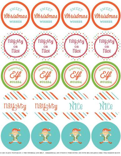 Free Christmas Elf Printables And Holiday Label Templates