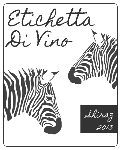Zebra Label Template  pop labels zebra and blue ready to pop